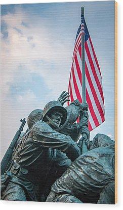 Iwo Jima Forward Wood Print