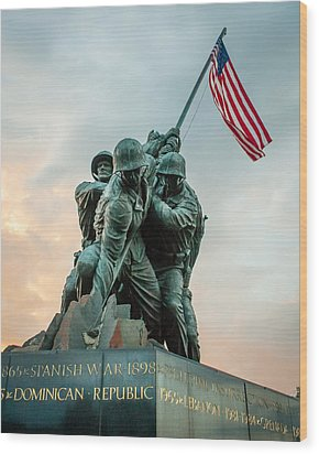 Wood Print featuring the photograph Iwo Jima Memorial by Dawn Romine