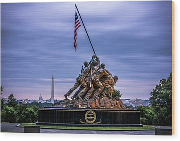 Iwo Jima Monument Wood Print