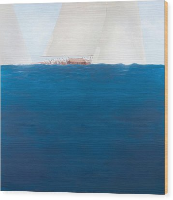 J Class Racing The Solent 2012  Wood Print by Lincoln Seligman