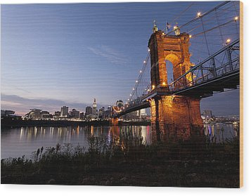 Ja Roebling Bridge Wood Print