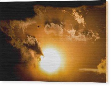 Wood Print featuring the photograph Jabiru Sunset Cloud by Paul Job