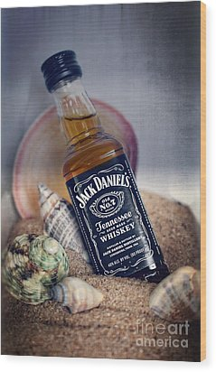 Jack At The Beach Wood Print