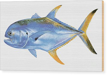 Jack Crevalle Wood Print by Carey Chen