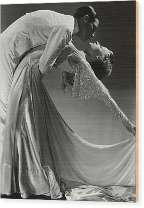 Jack Holland And June Hart Dancing Wood Print by Horst P. Horst