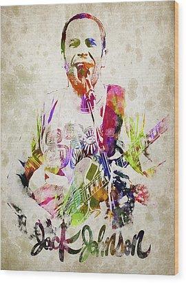 Jack Johnson Portrait Wood Print by Aged Pixel