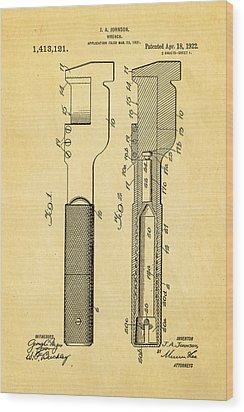 Jack Johnson Wrench Patent Art 1922 Wood Print by Ian Monk