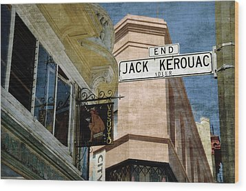 Jack Kerouac Alley And Vesuvio Pub Wood Print by RicardMN Photography