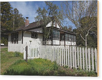 Jack London Cottage 5d22122 Wood Print by Wingsdomain Art and Photography
