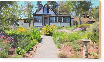Jack London Countryside Cottage And Garden 5d24565 Long Wood Print by Wingsdomain Art and Photography