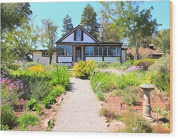 Jack London Countryside Cottage And Garden 5d24565 Wood Print by Wingsdomain Art and Photography