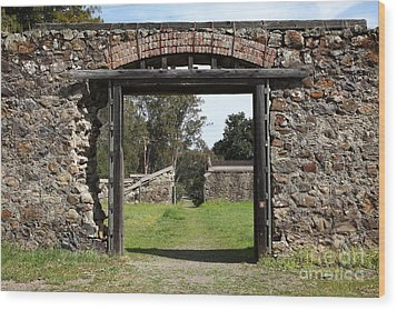 Jack London Ranch Winery Ruins 5d22128 Wood Print by Wingsdomain Art and Photography