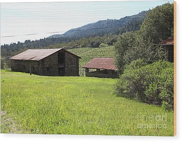 Jack London Stallion Barn 5d22058 Wood Print by Wingsdomain Art and Photography