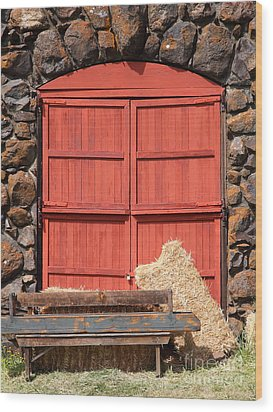 Jack London Stallion Barn 5d22103 Wood Print by Wingsdomain Art and Photography