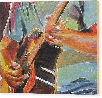 Jack Man Johnson Wood Print by Therese Fowler-Bailey
