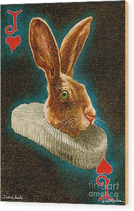Jack Of Hearts... Wood Print by Will Bullas