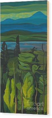 Jack Pine And Poplar Detail Wood Print