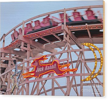Jack Rabbit Coaster Kennywood Park Wood Print
