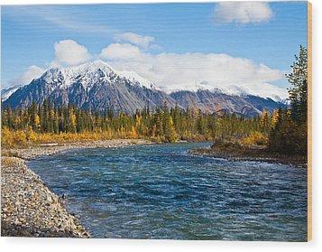 Jack River Alaska Wood Print