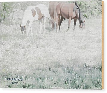 Wood Print featuring the digital art Jack Smokey And Camelot Texas Spring C by Robert Rhoads