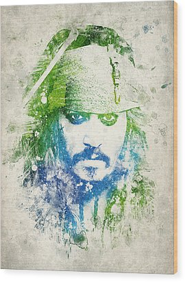 Jack Sparrow Wood Print by Aged Pixel