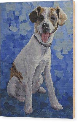 Jackaroo - A Pet Portrait Wood Print by Karen Ilari