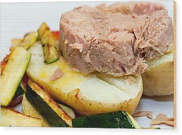 Jacket Potato With Tuna Filling Wood Print by Fizzy Image