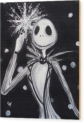 Jack's Dream Wood Print by Marisela Mungia
