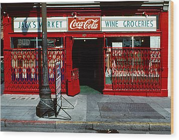 Jack's Market Wood Print by David Hohmann