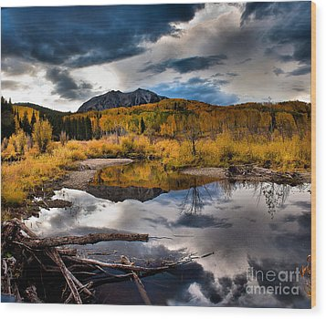 Wood Print featuring the photograph Jack's Pond by Steven Reed