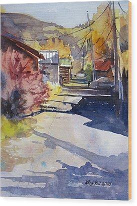Jackson Alley Wood Print by Kris Parins