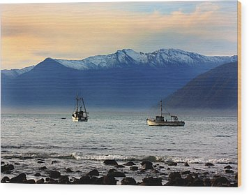 Wood Print featuring the photograph Jackson Bay South Westland New Zealand by Amanda Stadther