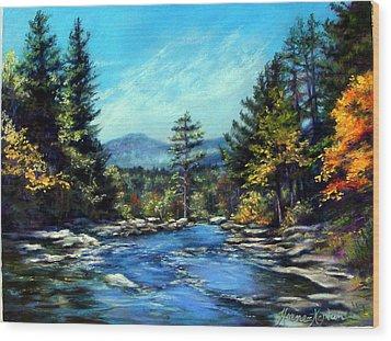 Jackson Falls New Hampshire Wood Print
