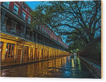 Jackson Square At Dawn Wood Print by Andy Crawford