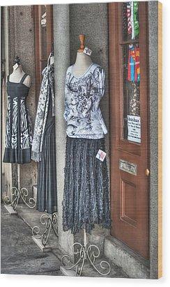 Jackson Square Fashion Wood Print by Brenda Bryant