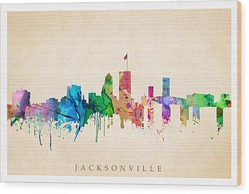 Jacksonville Cityscape Wood Print