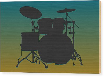 Jacksonville Jaguars Drum Set Wood Print by Joe Hamilton