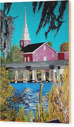 Jacksonville Nc A First Impression Wood Print by Jim Phillips