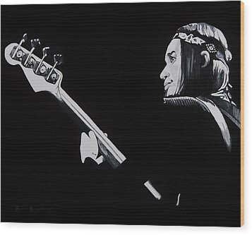 Jaco Wood Print by Brian Broadway