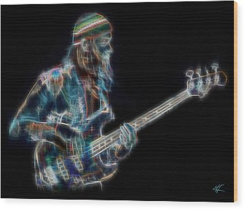 Jaco Wood Print by Kenneth Armand Johnson