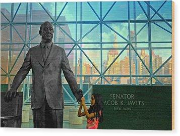 Jacob K. Javits Wood Print by Diana Angstadt