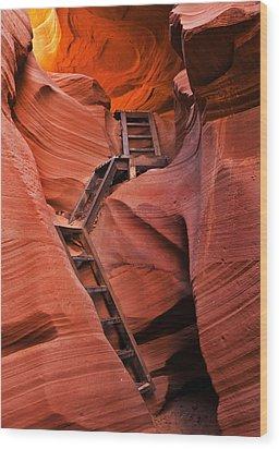 Jacob's Ladder Wood Print by Mike  Dawson