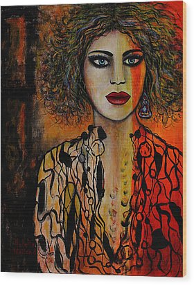 Jacquelyn Wood Print by Natalie Holland