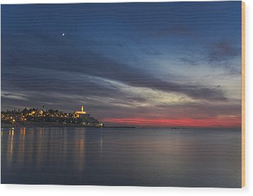 Wood Print featuring the photograph Jaffa On Ice by Ron Shoshani