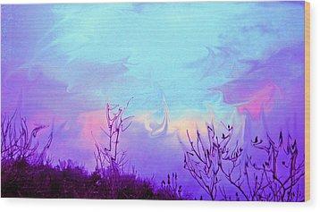 Jagged Sky Wood Print by Crystal Harman