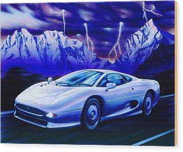 Jaguar 220 Wood Print by Garry Walton