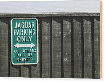 Jaguar Car Park Wood Print by Joana Kruse