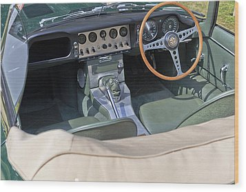 Jaguar E-type Series 1 Wood Print by Maj Seda