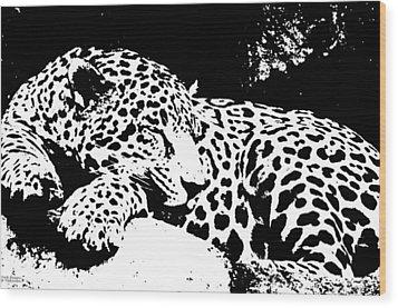 Jaguar In Reverse Wood Print