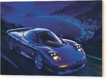 Jaguar Xjr-15 Wood Print by Garry Walton